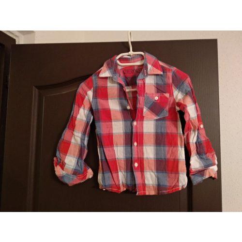 Kockás ing 5-6 éves korra kb 122
