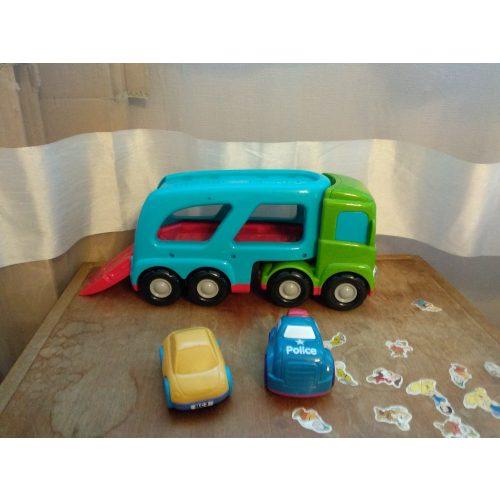 ELC hangot adó autószállító kamion kisautókkal