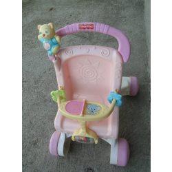Fischer Price járássegítő zenélő babakocsi babával