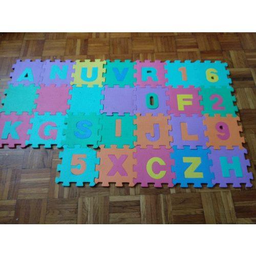 Összerakható betű szám szőnyeg
