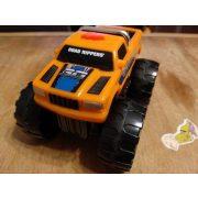 Narancssárga elemes autó