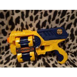 X-shot forgótáras korong- és szivacskilövő pisztoly 10 tölténnyel (442)