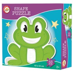 Béka forma puzzle 53 db-os