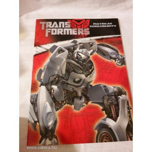 Transzformersz kifestőfüzet ÚJ