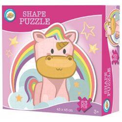 Unikornis forma puzzle 53 db-os