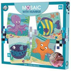 Óceán habszivacs mozaikos kreatív szett, ú
