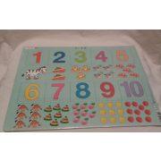 Larsen maxi lap puzzle 10db-os, Számok 1-10-ig ÚJ, fóliázott