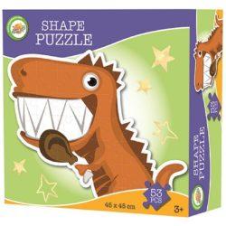 Dinoszauruszos forma puzzle 53 db-os