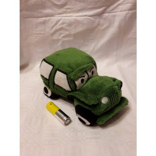 Plüss verda autó