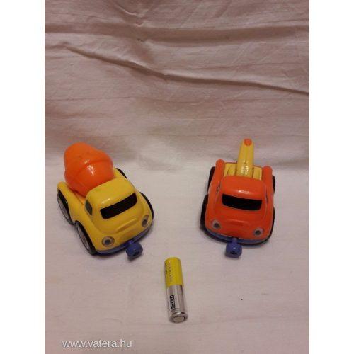 Mágneses kisautók 2 db (munkagépek)