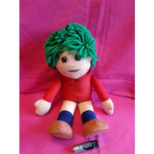 Zöld hajú fiú rongybaba