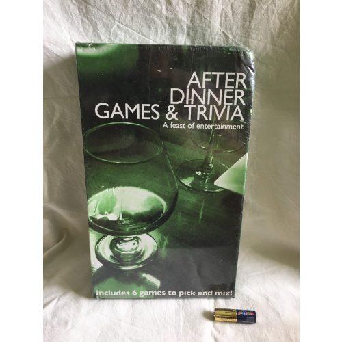 After Dinner Games & Trivia angol nyelvű társasjáték fóliázott