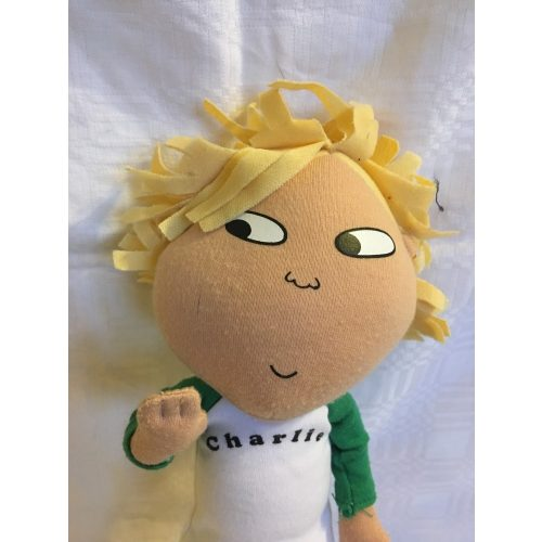 Szőke hajú fiú rongybaba