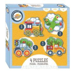 Járműves forma puzzle szett