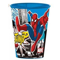 Pókember pohár, műanyag