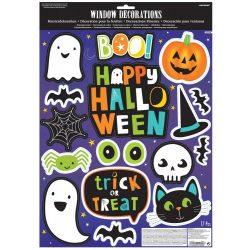 Halloween Ablak matrica 17 db-os