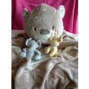 Teddy macis felfújható babafotel, játszószőnyeg ÚJ csomagsérült