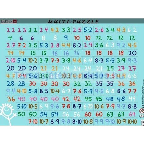 Larsen maxi lap puzzle 81db-os, Szorzótábla ÚJ, fóliázott