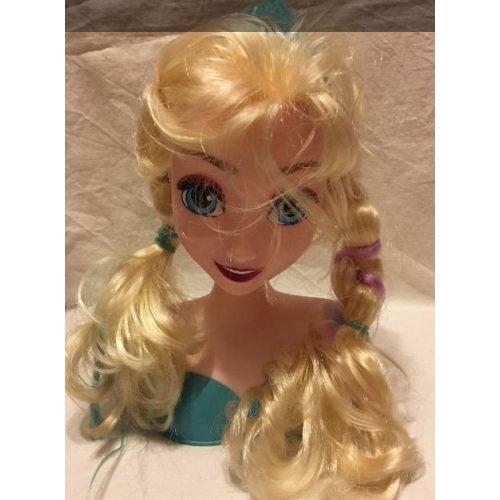Jégvarázs Elza (Frozen Elsa) fésülhető babafej